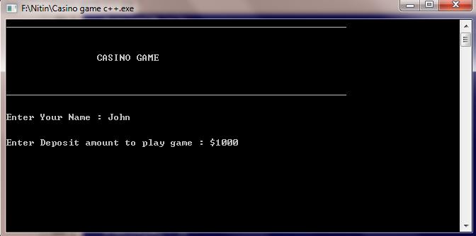 casino game c++ 1