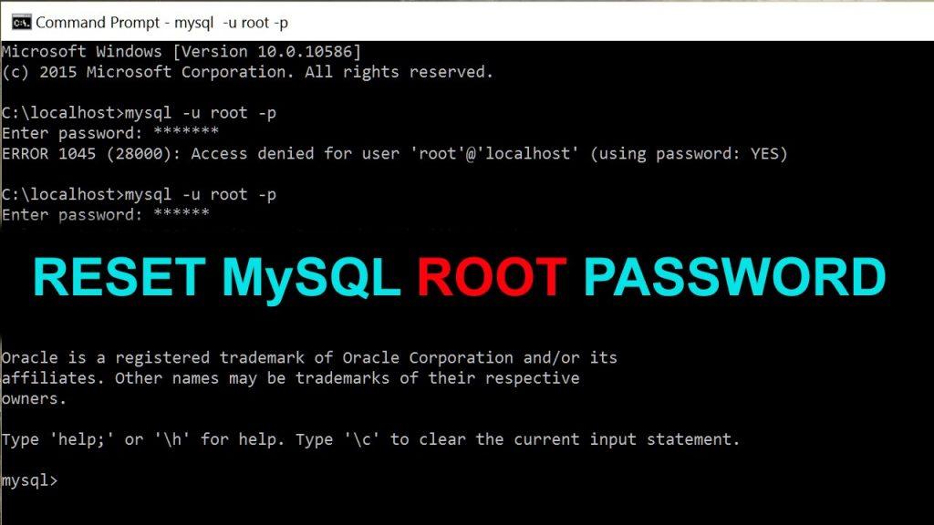 reset mysql root password
