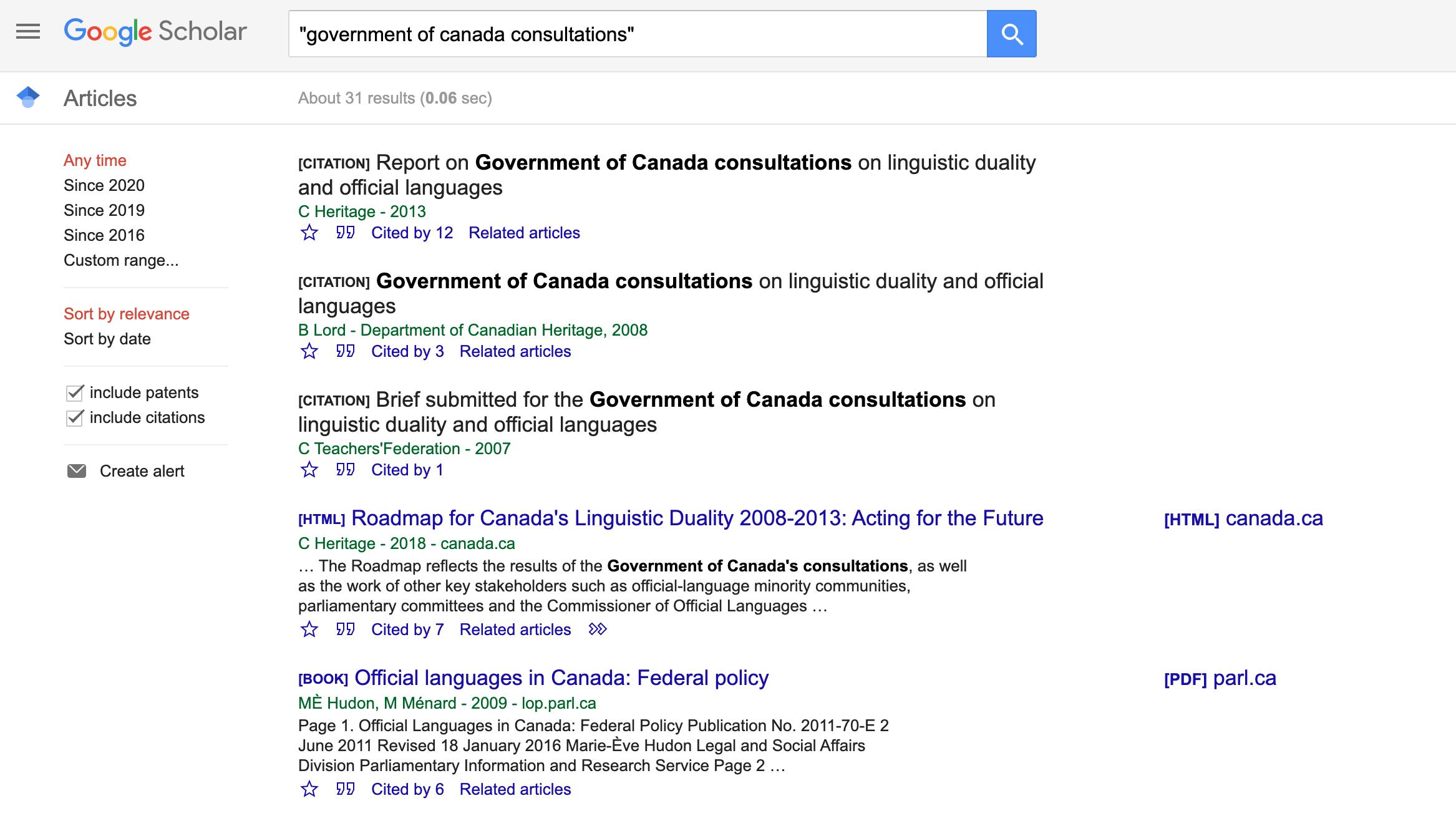 Canada-government-Google-Scholar