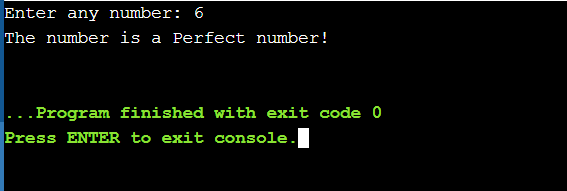 perfect number in python